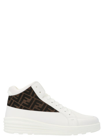 Fendi FF Monogram High-Top Sneakers