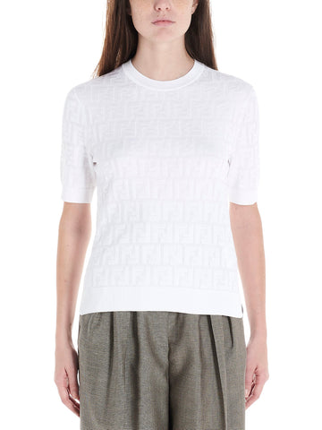 Fendi FF Monogram Knitted T-Shirt