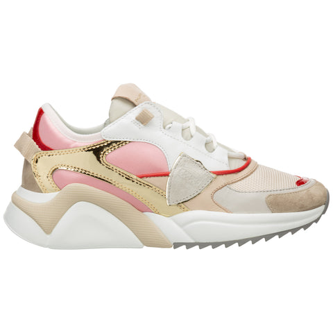 Philippe Model Panelled Logo Patch Sneakers