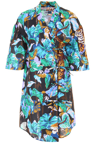 Kenzo Printed Asymmetric Shirt Dress