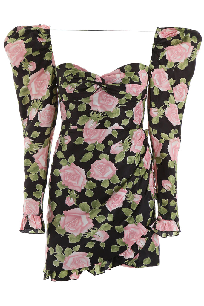 Alessandra Rich Dresses ALESSANDRA RICH FLORAL PRINT MINI DRESS