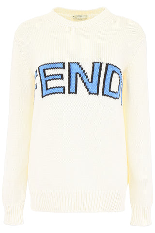 Fend Logo Knit Pullover