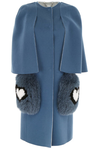 Fendi Fur Pocket Cape Coat