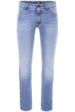 Fendi Washed Side Band Jeans