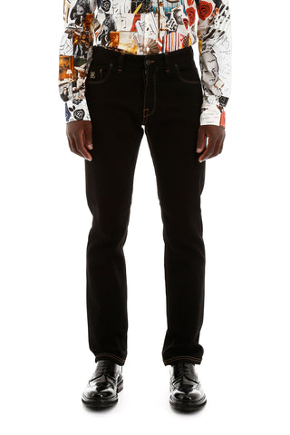Fendi Karligraphy Embroidered Jeans