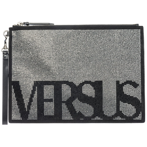 Versus Zipped Logo Clutch Bag