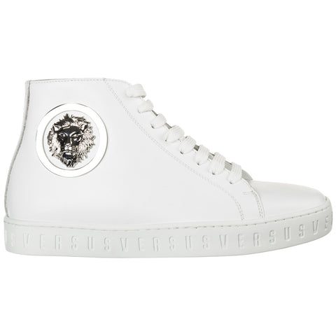 Versus Lion Logo Hi-Top Sneakers