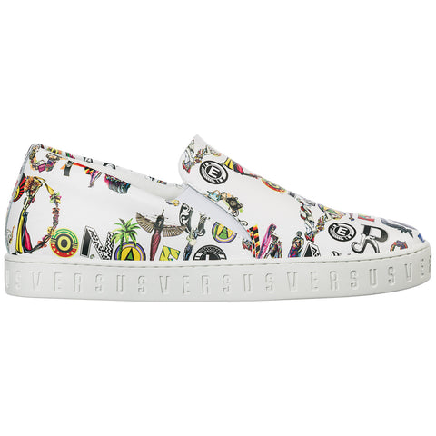 Versus Printed Slip-On Sneakers