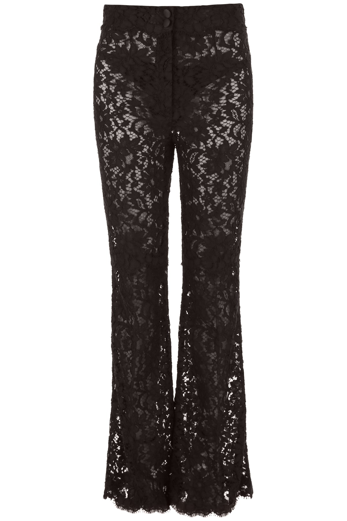 DOLCE & GABBANA LACE FLARED PANTS