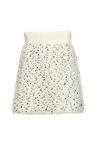 Moncler Speckled Tweed Mini Skirt