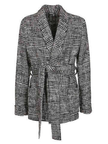 Dolce & Gabbana Checked Tie Coat