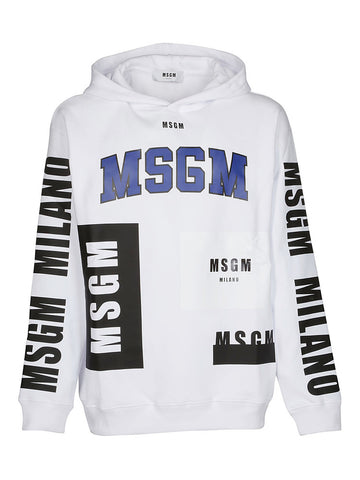 MSGM Logo Print Hooded Sweatshirt