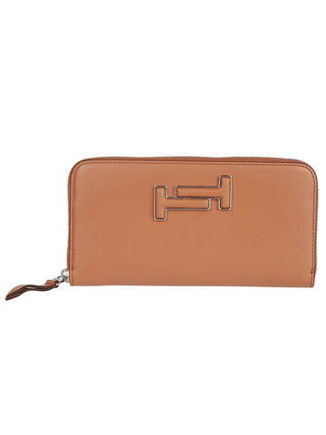 Tod's Double T Logo Zip Around Wallet
