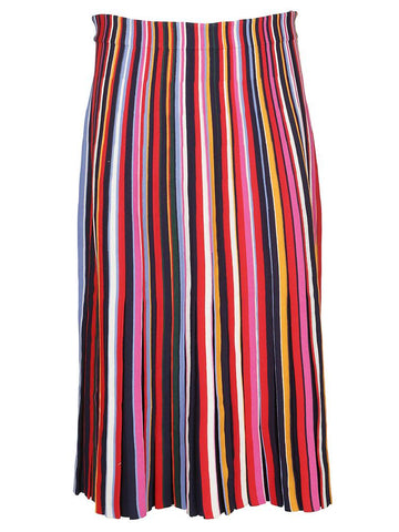 Tory Burch Striped Midi-Skirlt