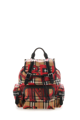 Burberry Graffiti Checked Backpack