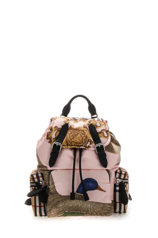 Burberry Medium Rucksack Duck Print Backpack