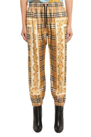 Burberry Scarf Print Checked Pants