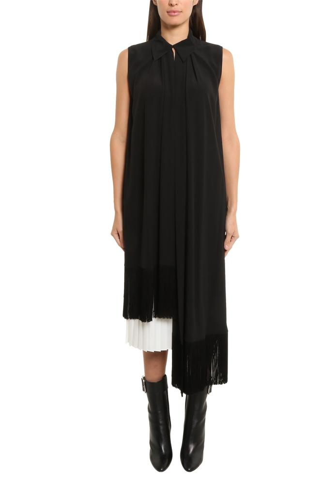 Givenchy Fringe Trimmed Sleeveless Top In Black