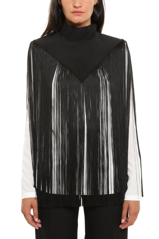 Givenchy Fringed High Neck Top