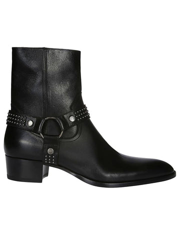 Saint Laurent Harness Studded Ankle Boots