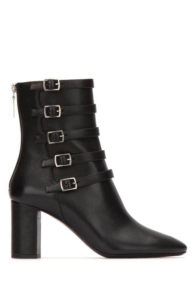 cd356d12d05 Saint Laurent Lou Buckle Strap Ankle Boots – Cettire