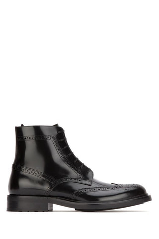 Saint Laurent Army Lace Up Ankle Boots