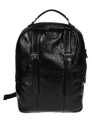 Saint Laurent Buckle Detail Logo Patch Zipped Backpack