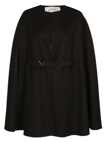 Valentino Belted Logo Cape