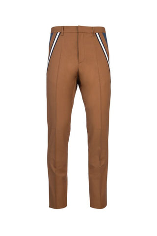 Valentino Stripe Detail Tailored Slim Fit Trousers