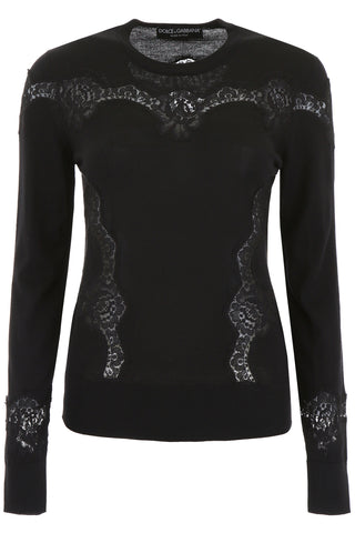 Dolce & Gabbana Lace-Detail Pullover