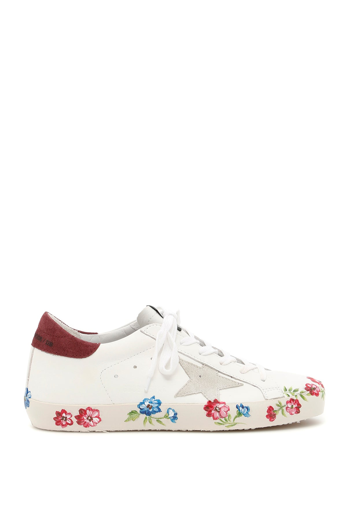 GOLDEN GOOSE DELUXE BRAND SUPERSTAR FLOWER SNEAKERS