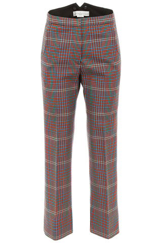 Golden Goose Deluxe Brand Checked Flared Cropped Pants