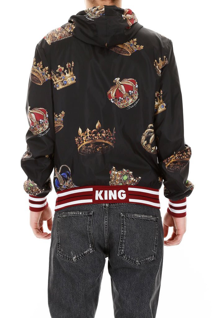 541810e68e21 Dolce & Gabbana Crown Print Hooded Jacket – Cettire