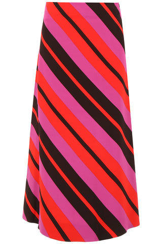 Marni Diagonal Stripe Midi Skirt