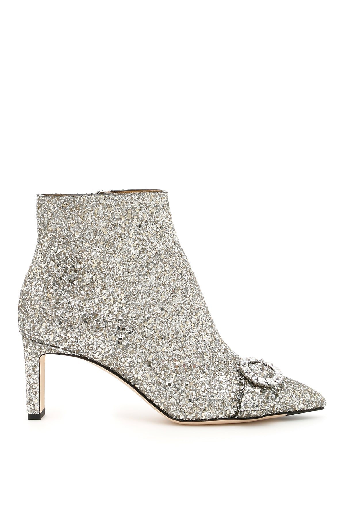 JIMMY CHOO HANOVER 65 GLITTER ANKLE BOOTS