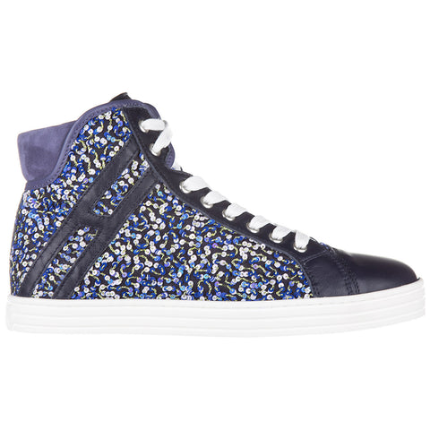 Hogan Rebel Sequinned High Top Sneakers