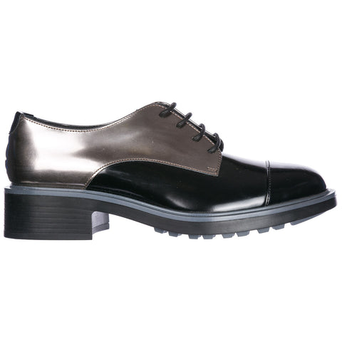 Hogan Contrasting Panelled Derby Shoes