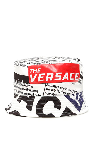 Versace Tabloid Print Bucket Hat
