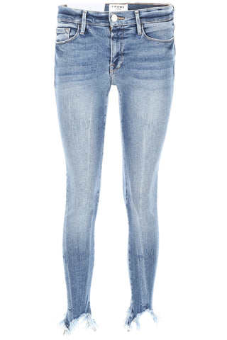 Frame Cropped Frayed Jeans