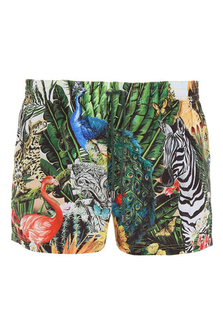 Dolce & Gabbana Tropical Print Swim Shorts