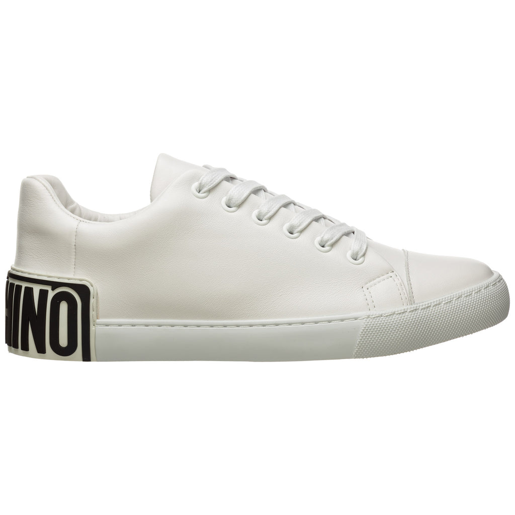 Moschino Leathers MOSCHINO LOGO PANELLED SNEAKERS