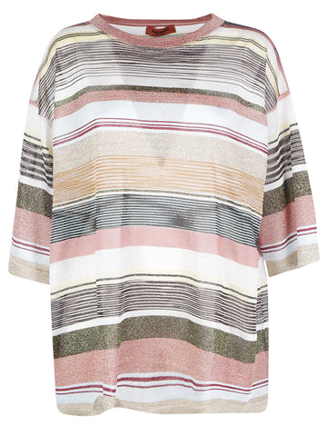 Missoni Striped Oversized Knit T-Shirt