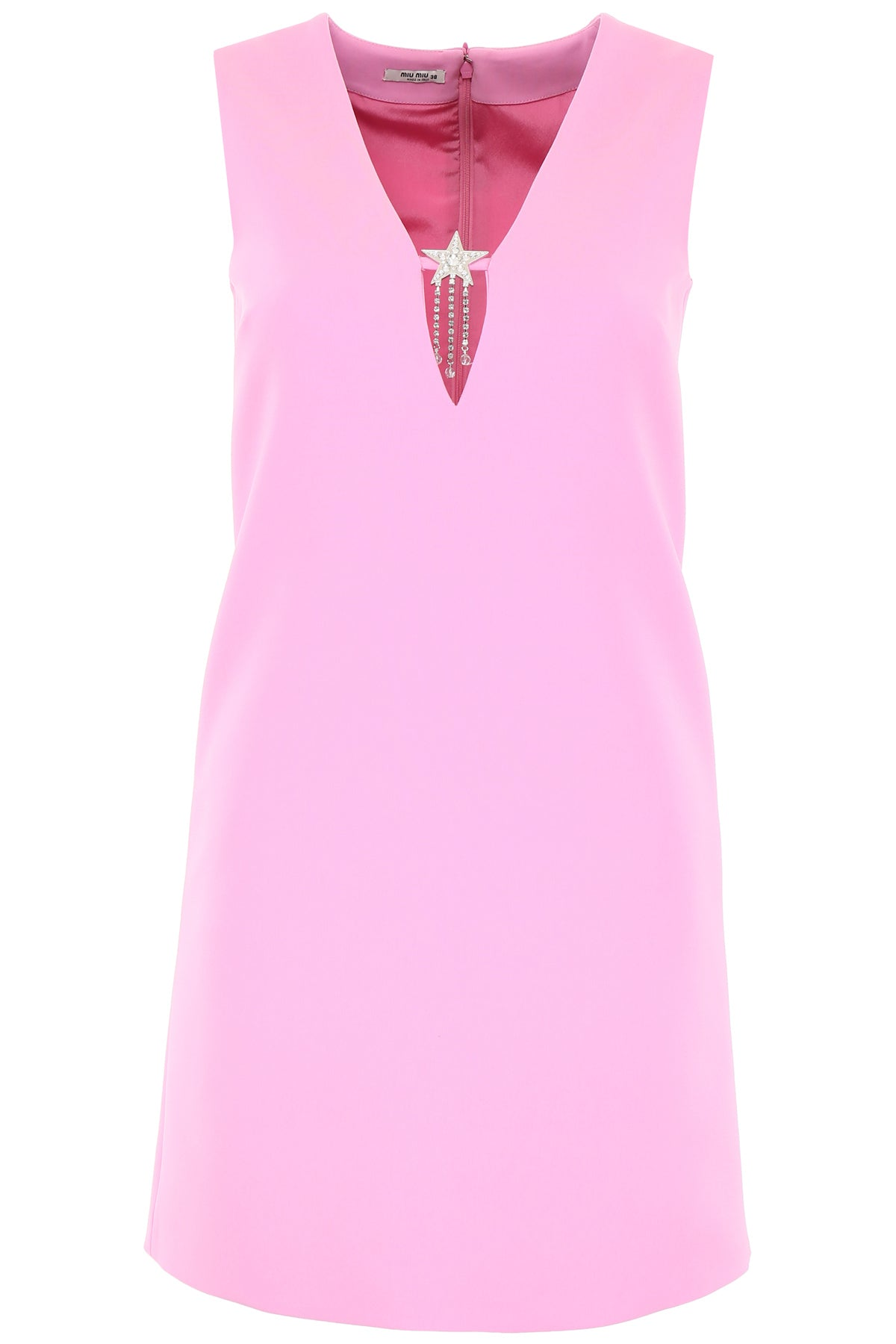 Miu Miu Dresses MIU MIU CADY CRYSTAL EMBELLISHED SLEEVELESS DRESS