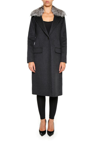 Michael Michael Kors Long Fur Trimmed Coat