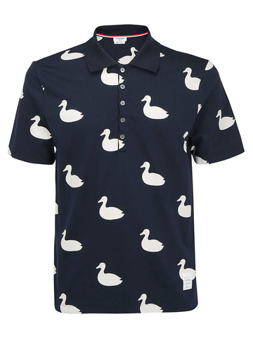 Thom Browne Duck Print Polo Shirt