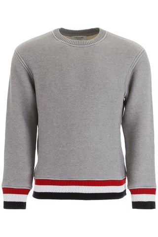 Thom Browne Striped Trim Round Neck Sweater