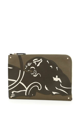 Valentino Panther Motif Document Case