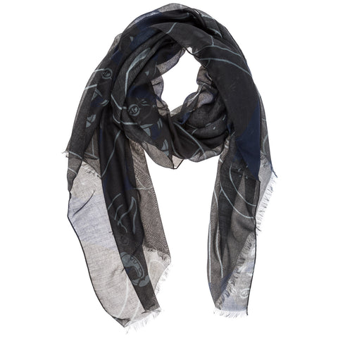 Valentino Two Tone Pattern Scarf