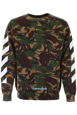Off-White Camouflage Cross Sweater