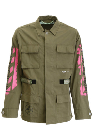 Off-White Field Arrow Printed Jacket